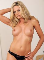 Hot Blonde Cougar Topless - busty juggies blonde mature