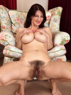 Furry Pussy Female With Knockers - larger natural tity